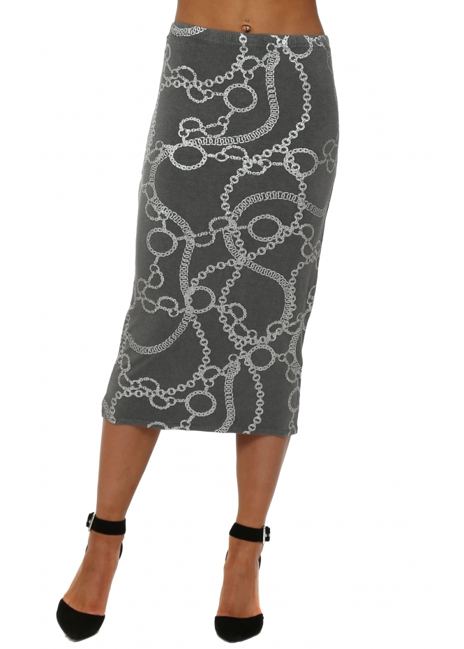A Postcard From Brighton Casey Thunder Couture Chains Midi Skirt