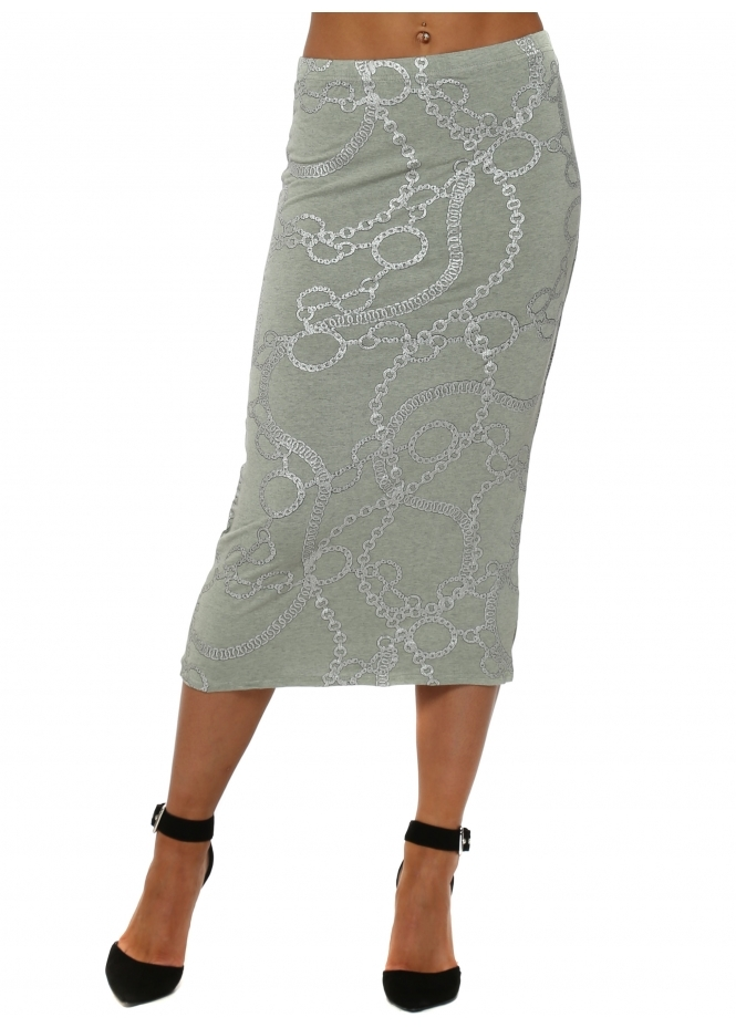 A Postcard From Brighton Casey Herb Couture Chains Midi Skirt