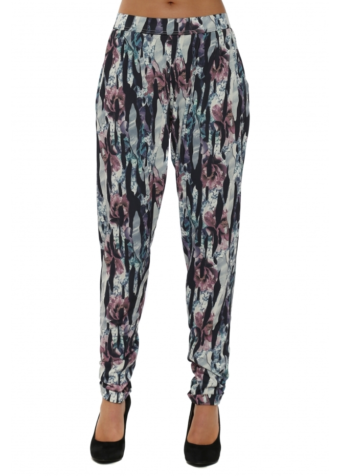 A Postcard From Brighton Jagged Flower Bone Chillings Harem Pants