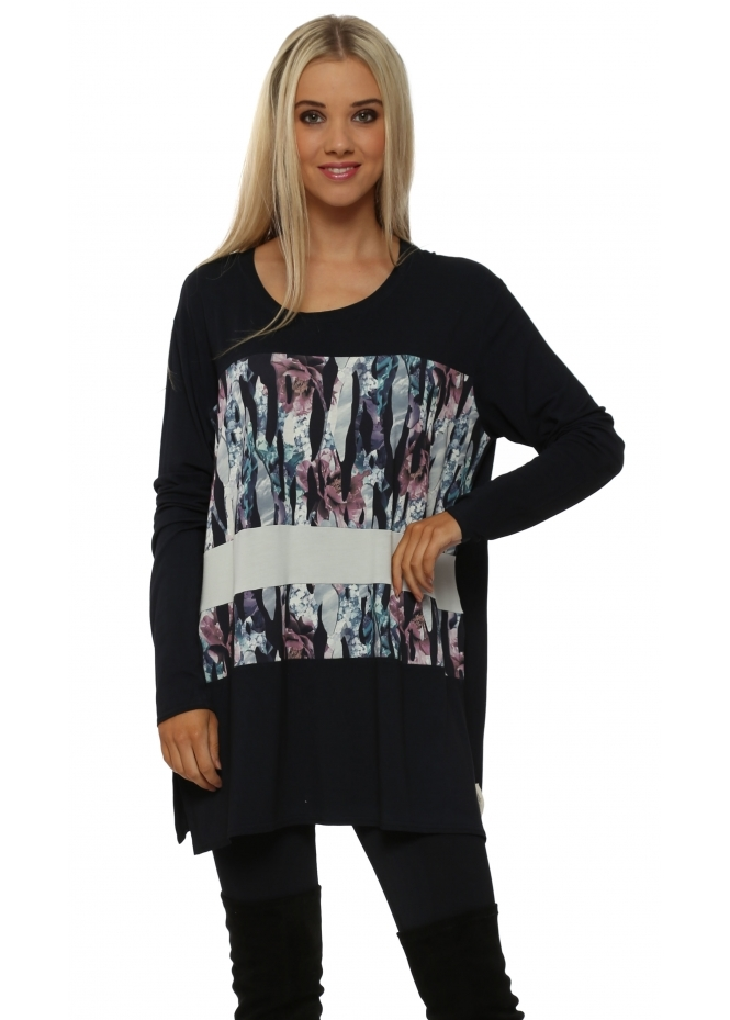 A Postcard From Brighton Jamie Jagged Flower Bone Block Tunic Top