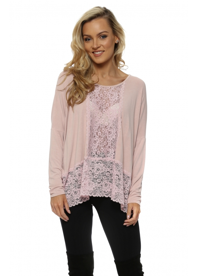 A Postcard From Brighton Binkie Chalk Lace Insert Slouch Top