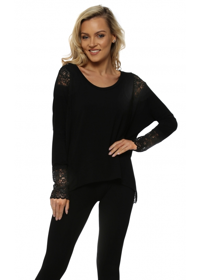 A Postcard From Brighton Eve Black Lace Insert Karma Top