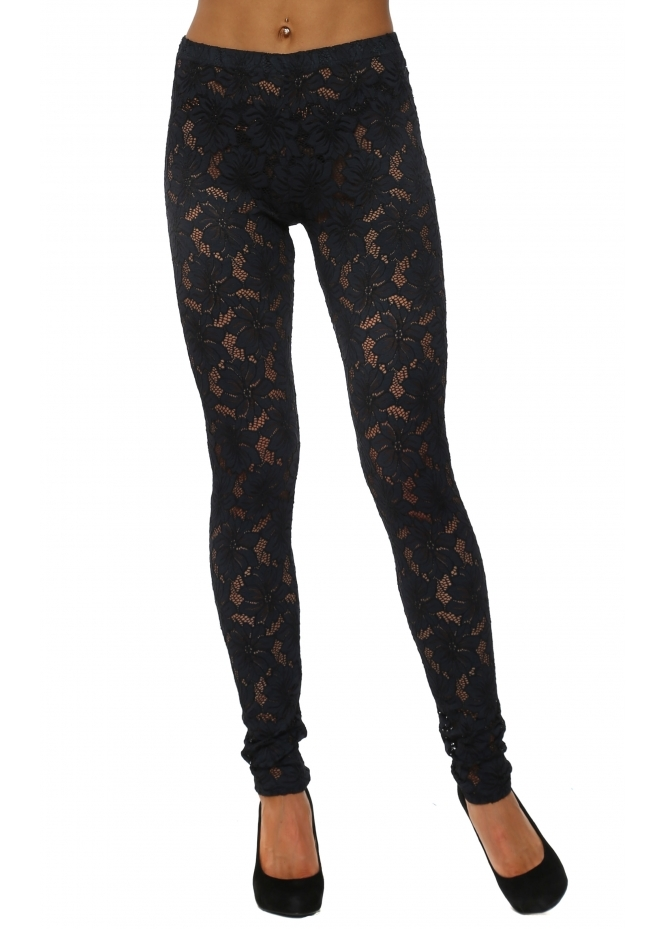 A Postcard From Brighton Paulie Black Floral Lace Leggings