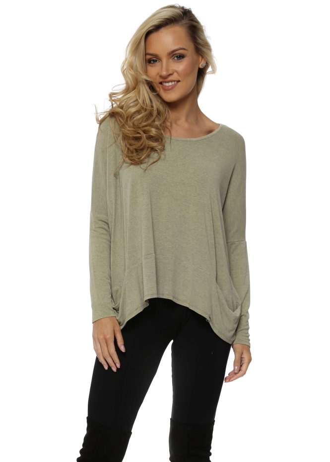 A Postcard From Brighton Nomad Melange Pammy Slouch Jersey Top