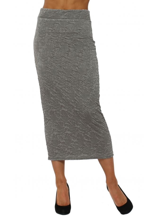 A Postcard From Brighton Claire Cloque Bark Midi Skirt