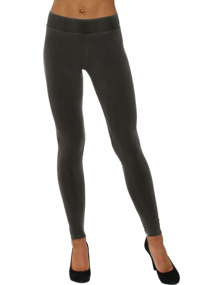 A Postcard From Brighton Anita Plain Bark Jersey Leggings