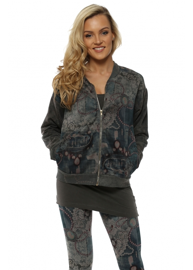 A Postcard From Brighton Becky Bark Bejewelled Bomber Jacket