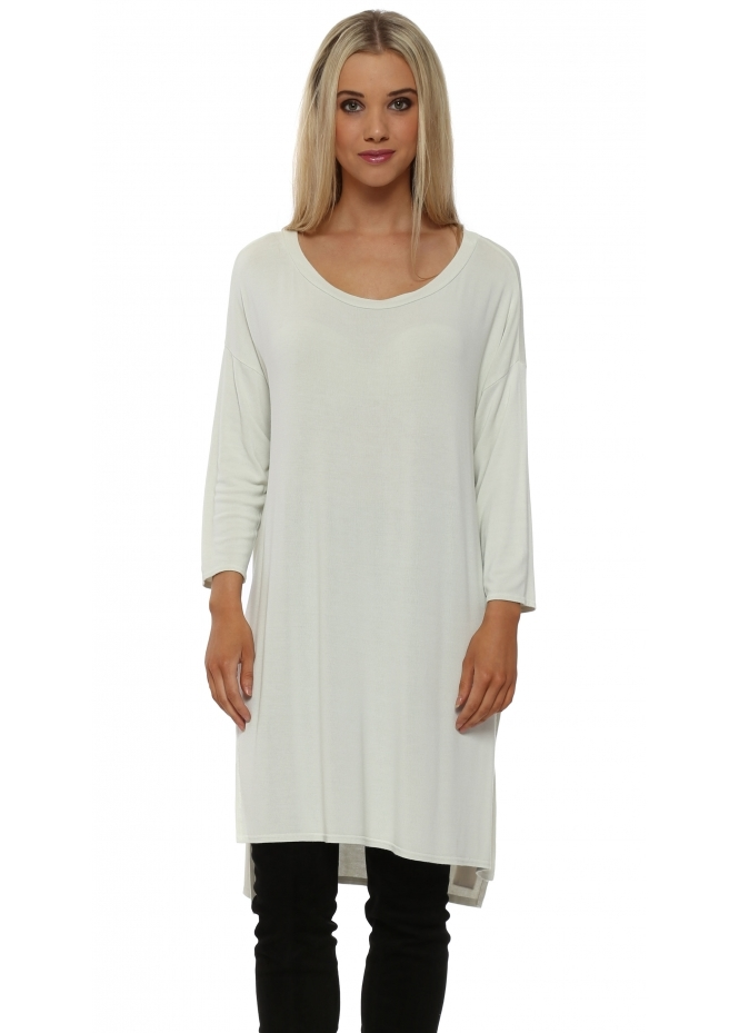 A Postcard From Brighton Flavia Bone Flighty Split Sides Slouch Top