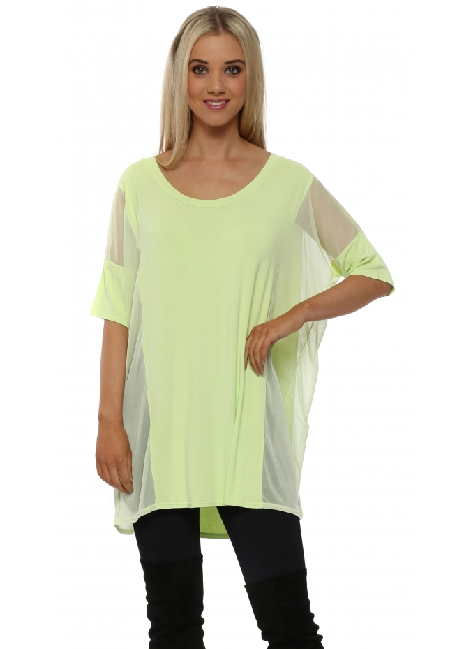 A Postcard From Brighton Penny Apple Mesh Insert Slouch Top