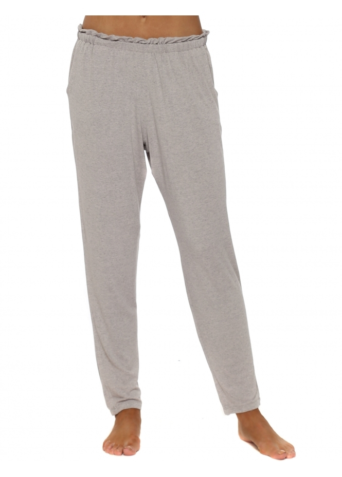 A Postcard From Brighton Frillers Chalk Melange Loose Fit Relaxed Trousers