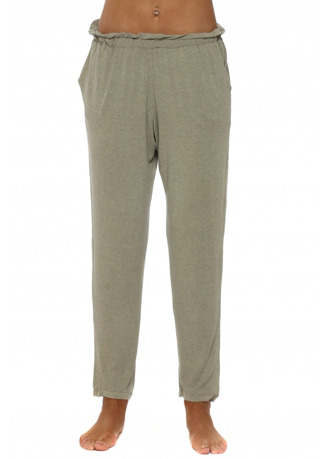 A Postcard From Brighton Frillers Nomad Melange Loose Fit Relaxed Trousers