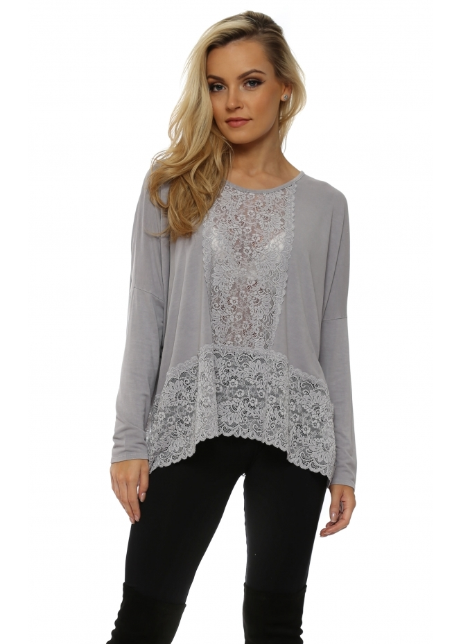 A Postcard From Brighton Binkie Gull Lace Insert Slouch Top
