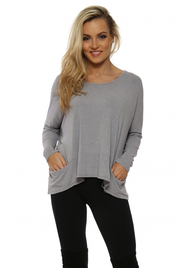 A Postcard From Brighton Gull Melange Pammy Slouch Jersey Top