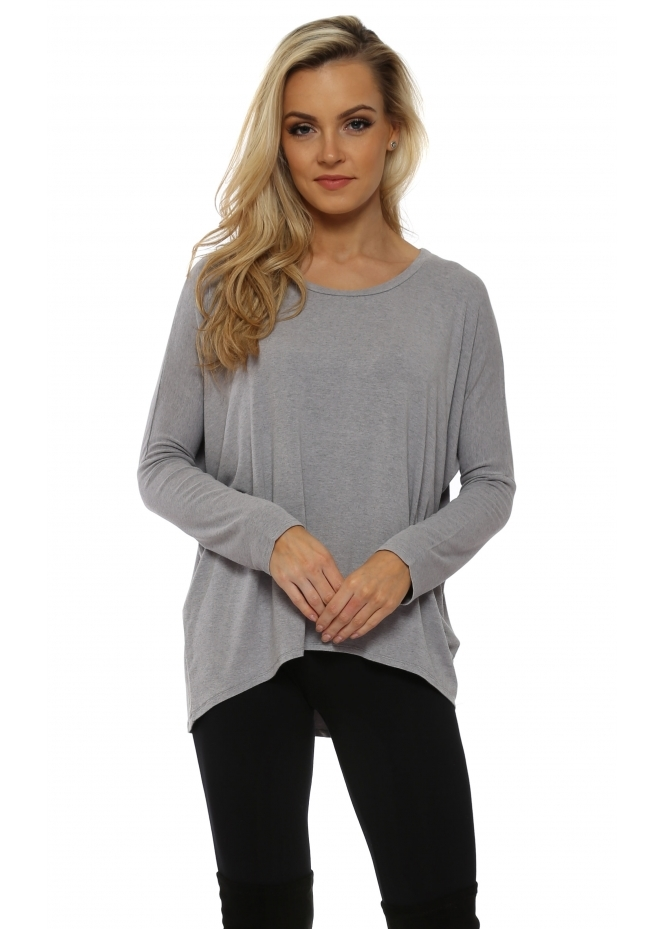 A Postcard From Brighton Kammy Gull Melange Long Sleeved Tunic Top
