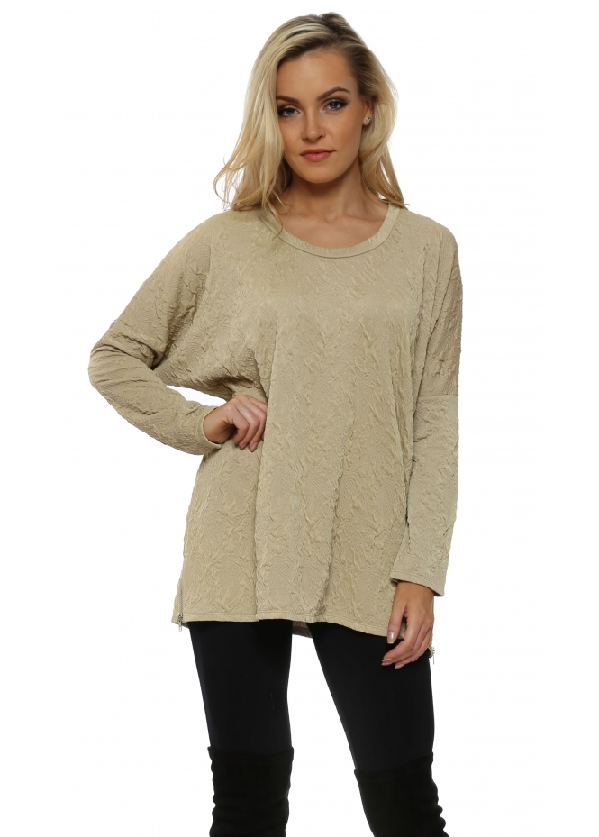 A Postcard From Brighton Chloe Cloque Nomad Zip Detail Top