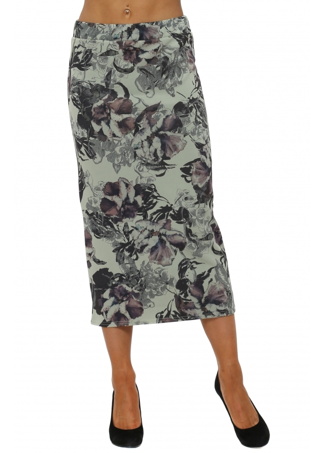 A Postcard From Brighton Dora Herb Dark Romance Midi Skirt