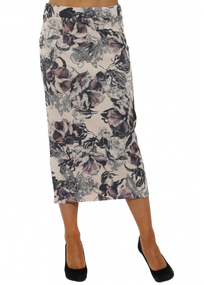 A Postcard From Brighton Dora Fudge Dark Romance Midi Skirt
