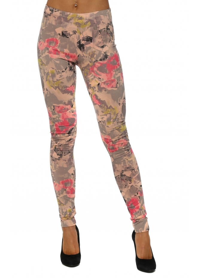 A Postcard From Brighton Freya Fragmented Floral Sherbert Leggings
