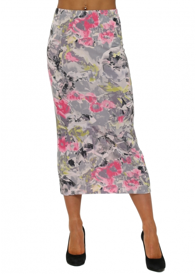 A Postcard From Brighton Floral Fragmented Floral Ballet Shoes Midi Skirt