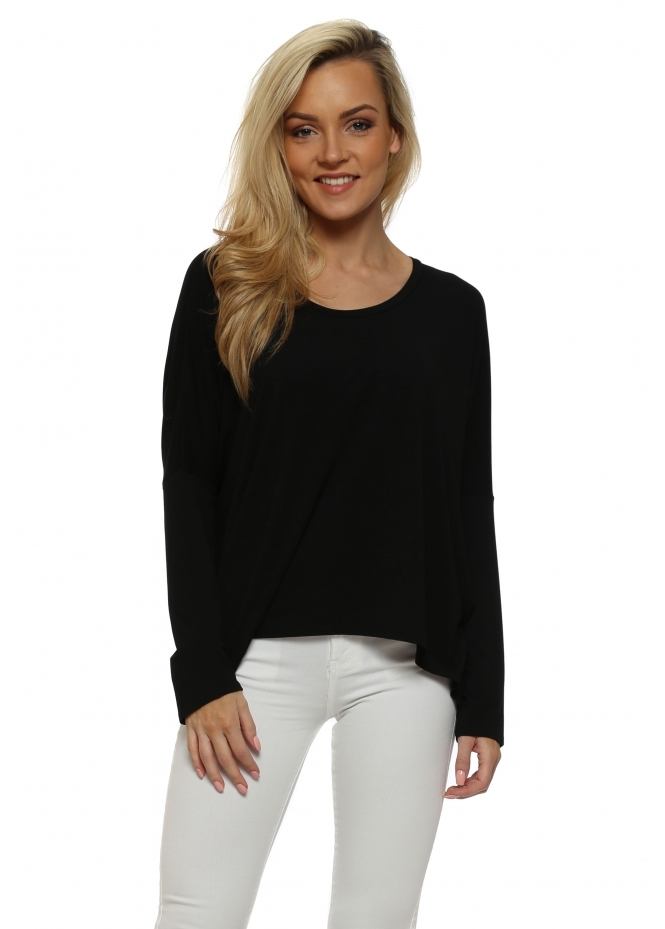 A Postcard From Brighton Black Karma Long Sleeves Slouch Top
