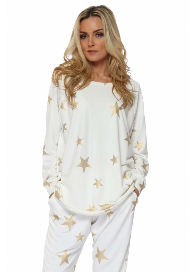 A Postcard From Brighton Blair Vanilla Gold Foil Star Sweater