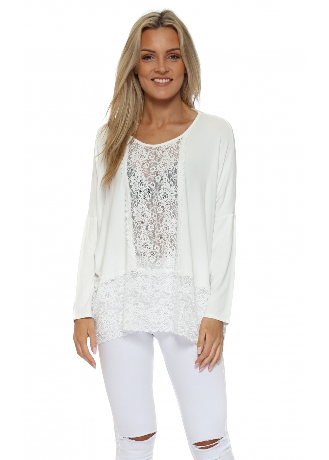 A Postcard From Brighton Binkie Vanilla Lace Insert Slouch Top