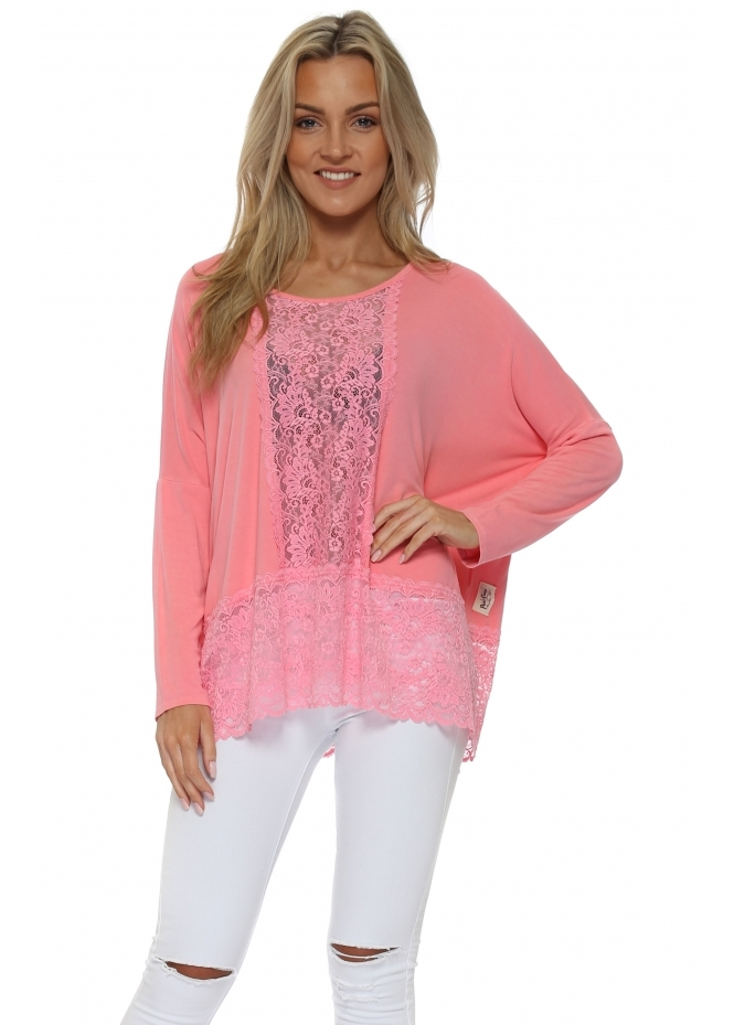 A Postcard From Brighton Binkie Ibiza Sunrise Lace Insert Slouch Top