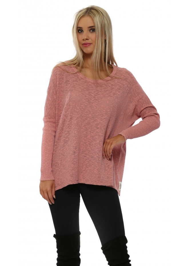 A Postcard From Brighton Rachel Binder Copper Slub Knit Top