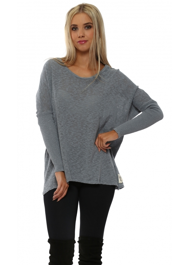 A Postcard From Brighton Rachel Binder Stormy Slub Knit Top