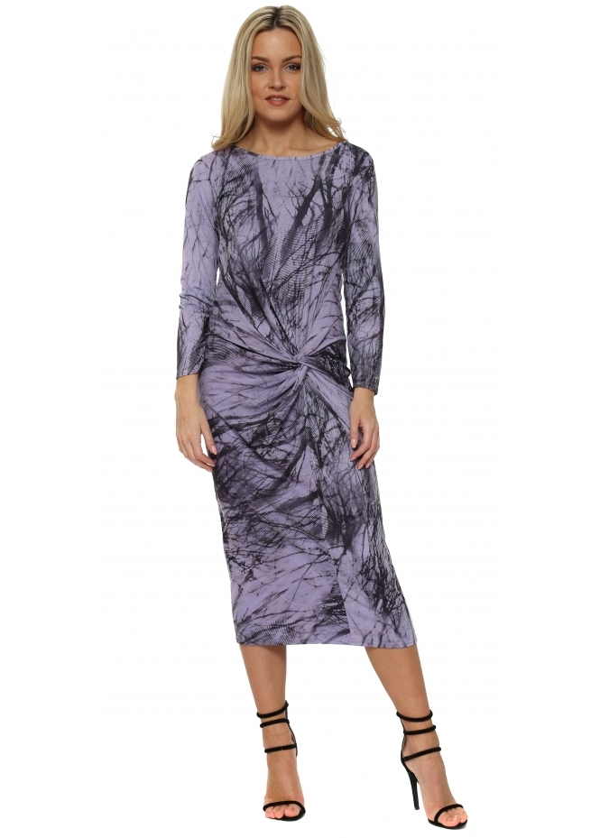 A Postcard From Brighton Tiffany Violet Mist Jersey Knot Tanglewood Midi Dress