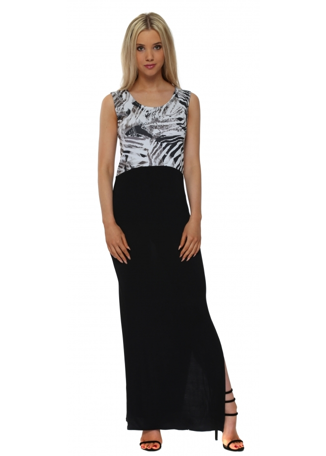 A Postcard From Brighton Tamra Tropical Tribe Wisteria Colour Block Maxi Dress