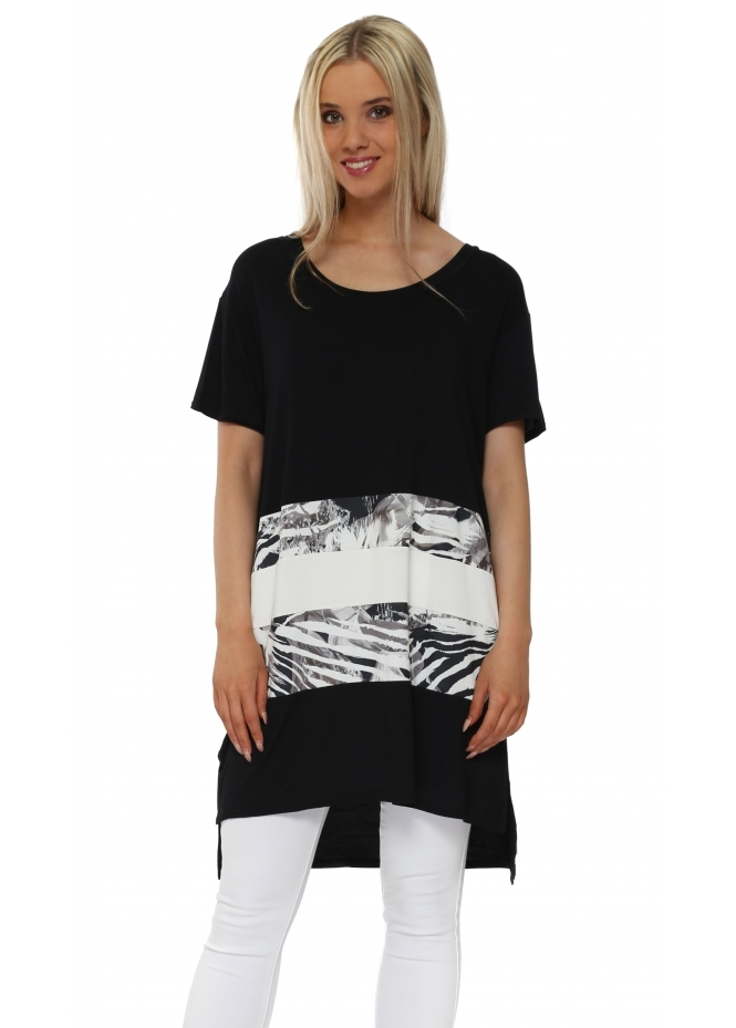 A Postcard From Brighton Taylor Ice Tropical Tribe Colour Block Tunic Top