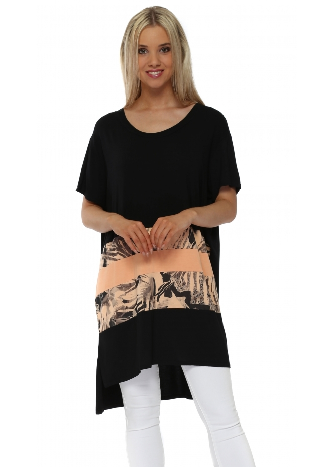 A Postcard From Brighton Taylor Sherbert Tropical Tribe Colour Block Tunic Top