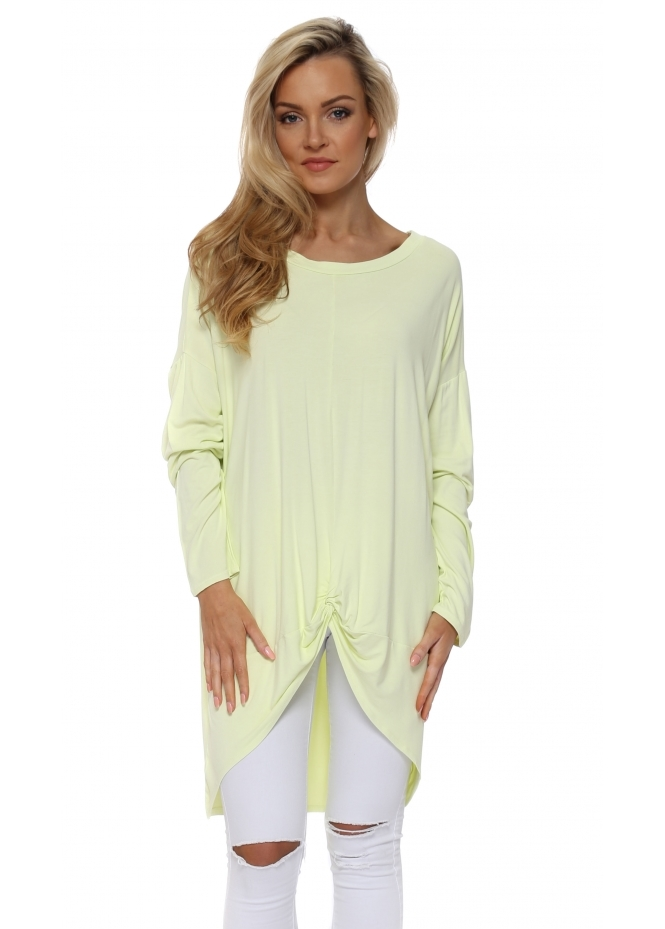 A Postcard From Brighton Lemonade Frankie Knotted Front Oversized Top