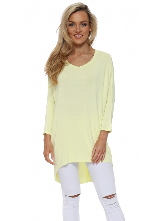A Postcard From Brighton Lemonade Flirty Dip Hem Slouch Top