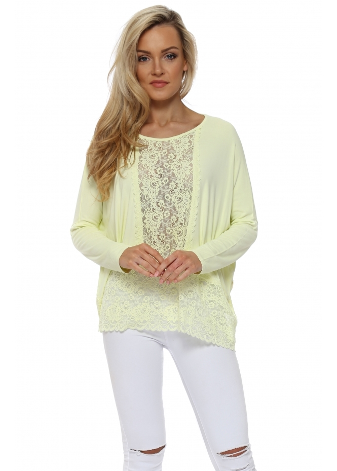 A Postcard From Brighton Binkie Lemonade Lace Insert Slouch Top