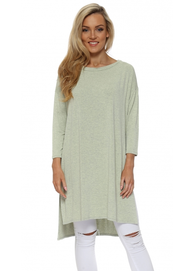 A Postcard From Brighton Flavia Lemonade Melange Flighty Split Sides Slouch Top