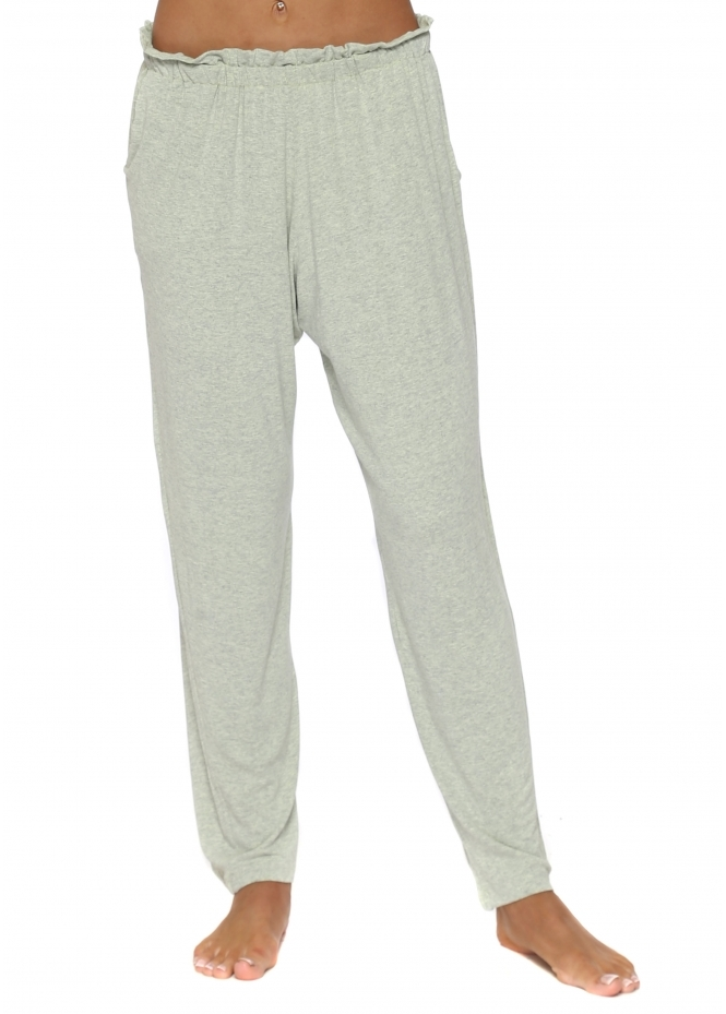 A Postcard From Brighton Frillers Lemonade Melange Loose Fit Relaxed Trousers