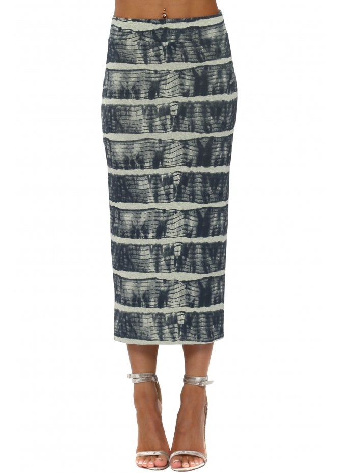 A Postcard From Brighton Ingrid Ibiza Tie Dye Lemonade Midi Skirt