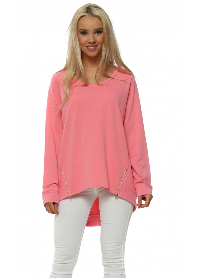 A Postcard From Brighton Vicky Ibiza Sunrise Zip Dip Hem Sweater