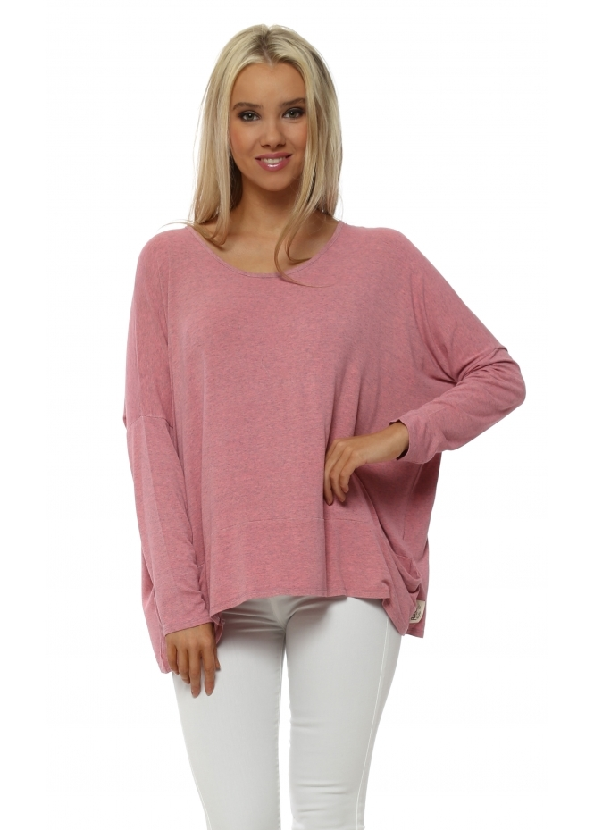 A Postcard From Brighton Ibiza Sunrise Melange Plain Pammy Slouch Jersey Top
