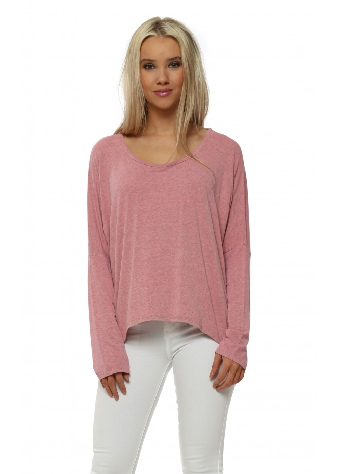 A Postcard From Brighton Karma Long Sleeve Slouch Top In Ibiza Sunrise Melange