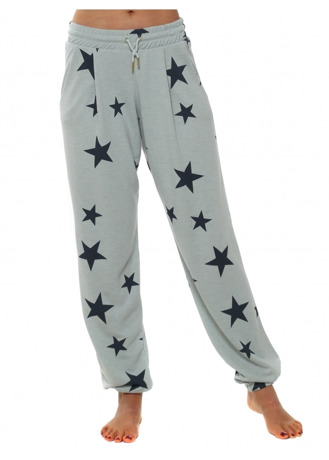 A Postcard From Brighton Brooke Julep Grey Melange Star Jogger Pants