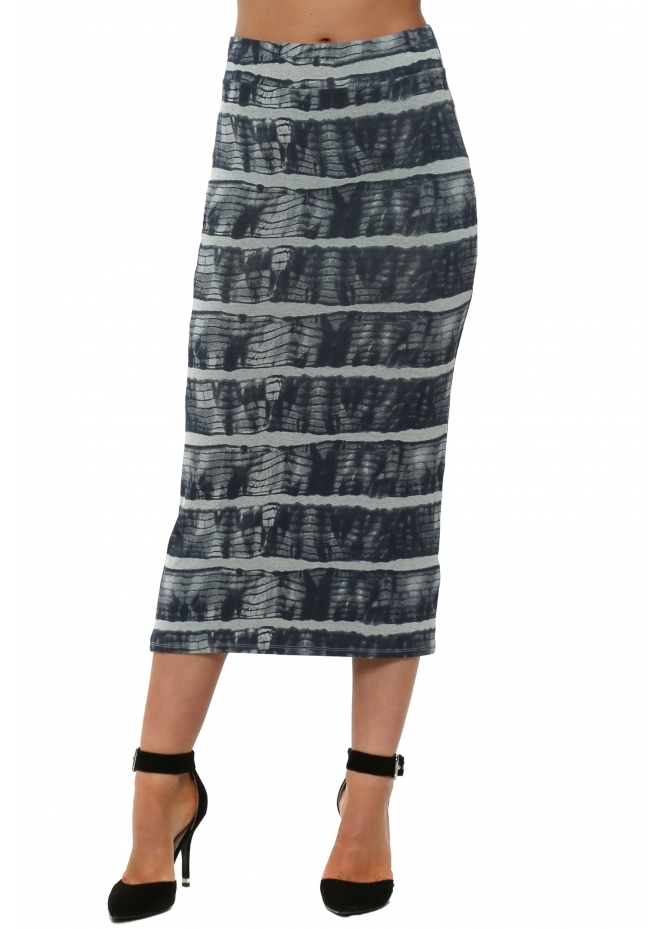 A Postcard From Brighton Ingrid Ibiza Tie Dye Julep Grey Midi Skirt