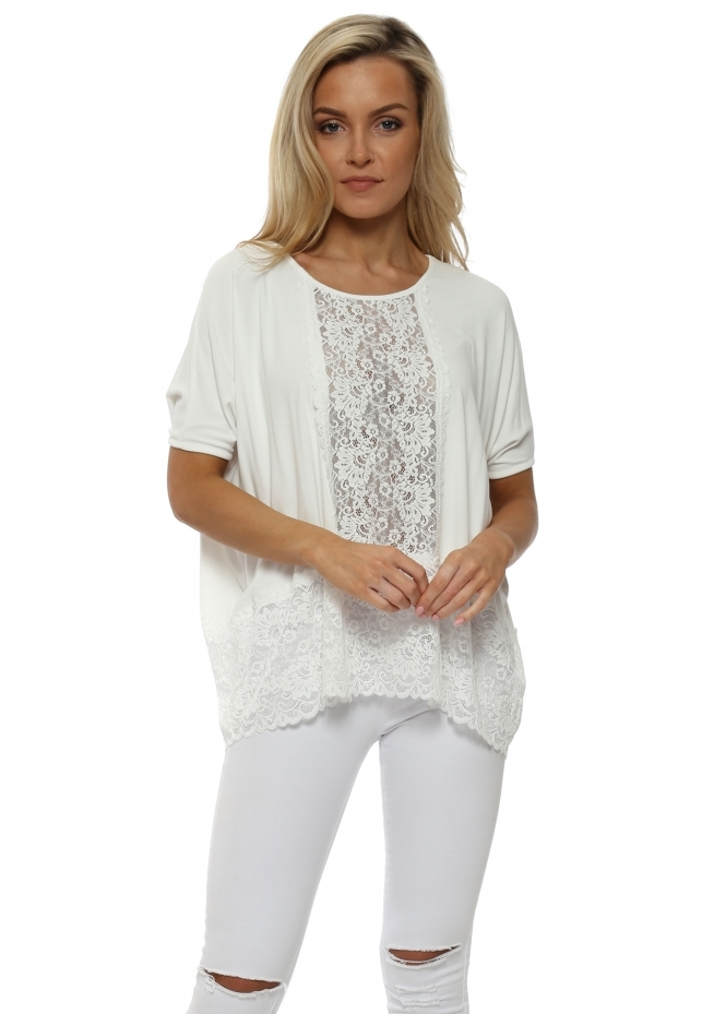 A Postcard From Brighton Sleeveless Binkie Vanilla Lace Insert Slouch Top