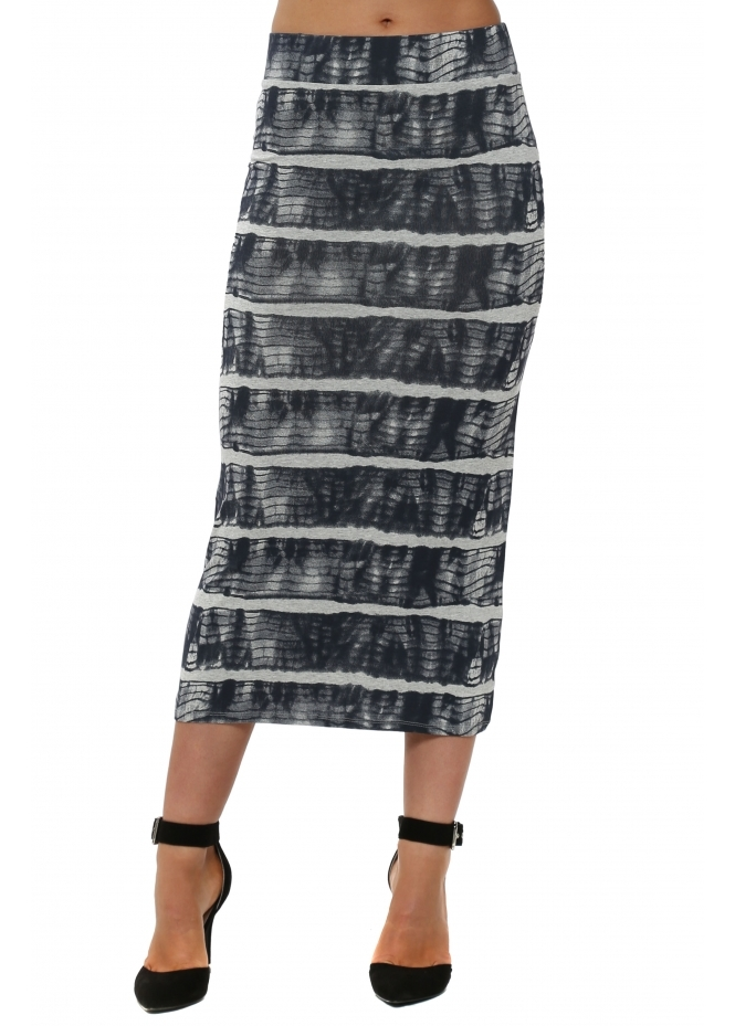 A Postcard From Brighton Ingrid Ibiza Tie Dye Vanilla Midi Skirt