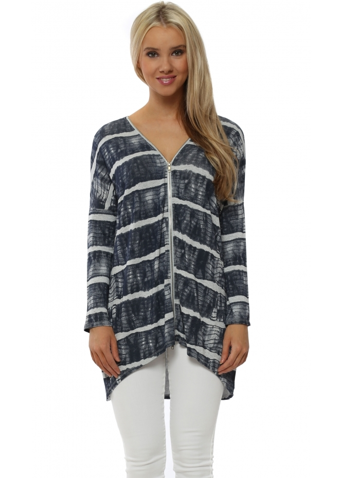 A Postcard From Brighton India Ibiza Tie Dye Vanilla Double Zip Top