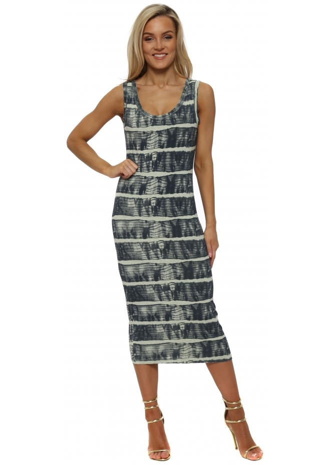 A Postcard From Brighton Ivy Ibiza Tie Dye Lemonade Midi Dress