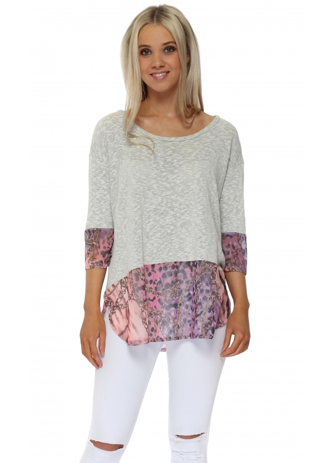 A Postcard From Brighton Wendy Wild Bling Slub Knit Sweater In Vanilla