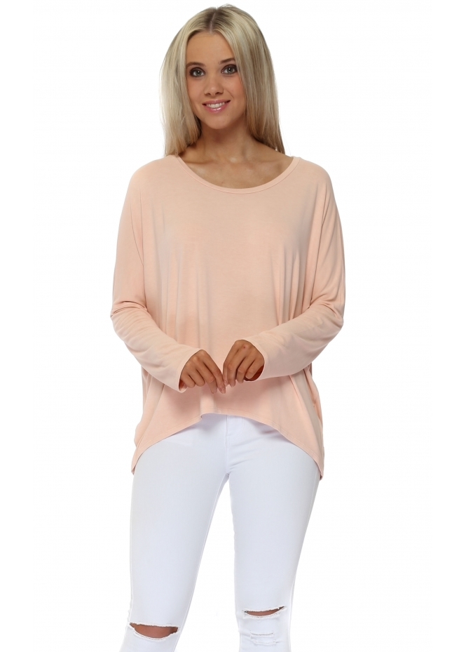 A Postcard From Brighton Karma Long Sleeve Slouch Top In Seduction